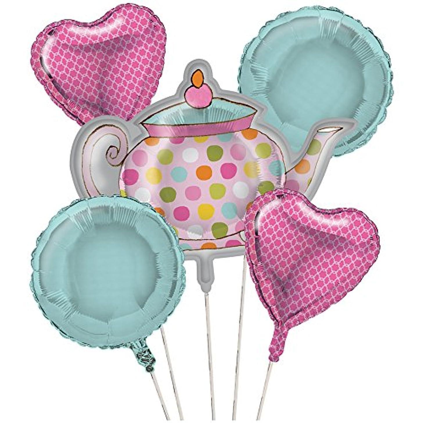 Creative Converting Tea Time Balloon Cluster (5) Party Supplies