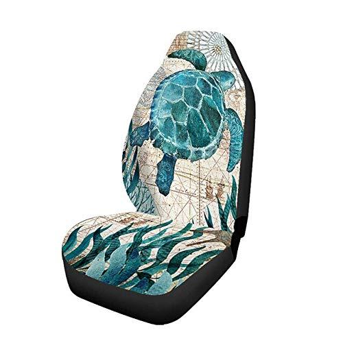 YBINGA Funda de asiento de coche universal de piel sintética para asiento de coche, cojín suave, resistente al desgaste, resistente al agua, con bolsa funcional, cómodas fundas (color: 1 unidad)