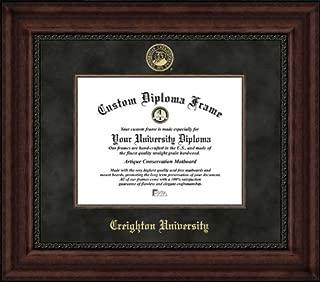 Laminated Visuals Creighton University Bluejays - Embossed Seal - Suede Mat - Mahogany - Diploma Frame