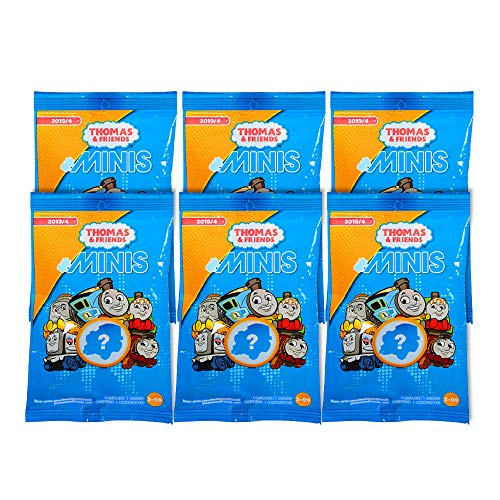 Mighty Mojo Fisher-Price Thomas & Friends Minis (Engines) Blind Bags Gift Set Party Bundle - 6 Pack