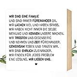 Wunderpixel® Holzbild Wir sind eine Familie - 15x15x2cm