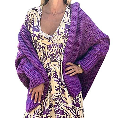 FRAUIT dames warm kort gebreid vest winter herfst waar gebreide poncho capes lange mouwen warm elegant locker oversive kimono cardigan mantel gebreide kleding blouse tops outwear