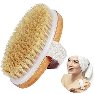 Amazon - Save 74%: Dry Body Brush-100% Nature Boar Bristles Bamboo Shower Bath Bru…