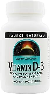 Source Naturals - vitamina D-3 forma bioactiva para hueso e inmune salud 2000 IU - 100 cápsulas