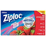 Ziploc Slider Storage Bags with New Power Shield Technology, For Food, Sandwich, Organization and More, Quart, 40 Count, Pack of 4 (160 Total Bags)