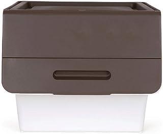 ZTMN Panier de Rangement Boîte de Rangement Boîte de Rangement Vêtements superposés Boîte de Rangement (Couleur: Marron, T...