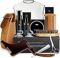 Baardverzorgingsset, fixget baardverzorgingsset voor mannen wildzwijnharen baardborstel baardkam & baardolie &...