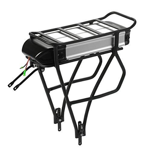 SEASON E-Bike Akku Pedelec 36V 12.5Ah Elektrofahrrad Lithium-Ionen Batterie + Gepäckträger + Ladegerät für Mifa, Aldi, Prophete, Rex