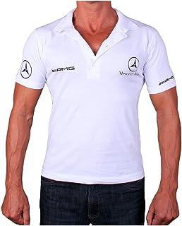 cb484444e OTO-MOTO T-Shirt Silver Star Collier Polo Blanc Autocollants Feuille Logo  Homme Collier