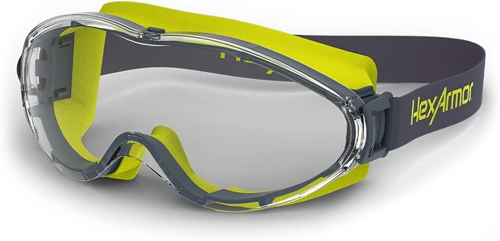 HexArmor Los Angeles Mall LT300 Over Glasses Clear with Cloth Goggles Safety Special price for a limited time Stra