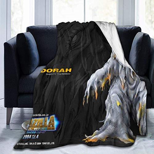 LUCKY Home Godzilla Final Wars Hedorah Nouveauté Couverture de lit en Polaire Super Doux et Chaud en Fausse Fourrure - Blouson en Micro Polaire Ultra-Doux