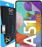 [2 Stück] Entspiegelte 3D Schutzfolien kompatibel mit Samsung Galaxy A51, hüllenfre&liche Matte Bildschirmschutz-Folie, Schutz vor Dreck & Kratzern, kein Schutzglas - smart Engineered