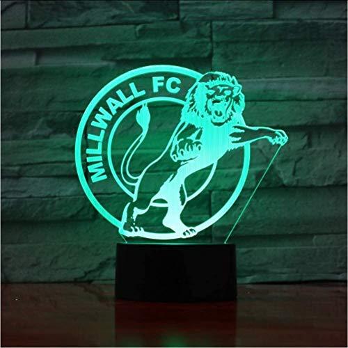 Millwall Fc Football 7 Bunte Farbverläufe Atmosphäre Lampe 3D Led Nachtlicht USB Tisch Nachttischlampe 3D Globus Lampe