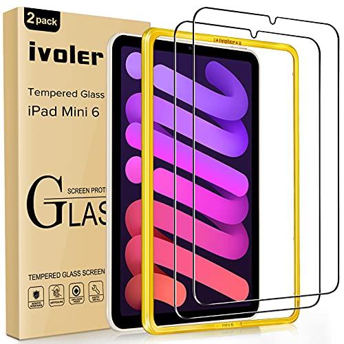 ivoler 2 Stücke Panzerglas Schutzfolie für iPad Mini 6 8.3 Zoll (6. Generation, 2021 Modell), Mit Positionierhilfe, 9H Festigkeit Panzerglasfolie, Anti-Kratzen Folie, Anti-Bläschen Bildschirmschutzfolie