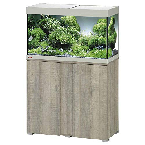 Eheim Vivaline LED Combi 13 W + Filtre Biopower 160 + Thermo Contrôle 100 W Chêne Gris 126 L