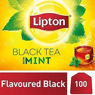Lipton Flavoured Black Tea Bags - Mint, 100s