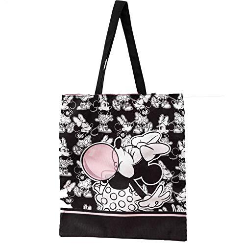 KARACTERMANIA Minni Mouse Bubblegum-Borsa della Spesa Shopping Bag, Multicolore