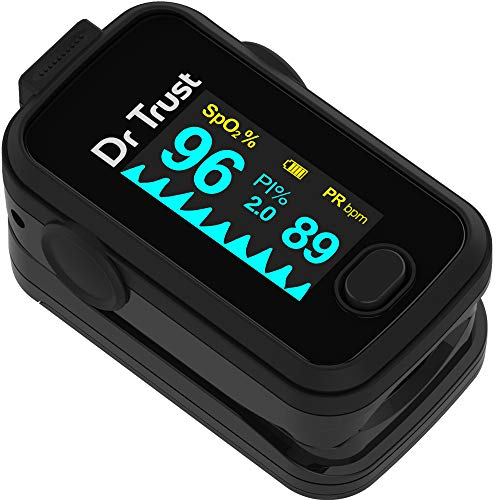 Dr Trust Signature Series Finger Tip Pulse Oximeter With Audio Visual Alarm (Midnight Black)- 201 (Health and Beauty)