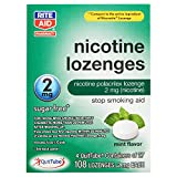 Rite Aid Mint Nicotine Lozenges, 2mg - 108 Lozenges | Mint Flavor | Sugar Free Quit Smoking Products | Stop Smoking Aids That Work | Quit Smoking Aid | Alternative to Nicotine Patches