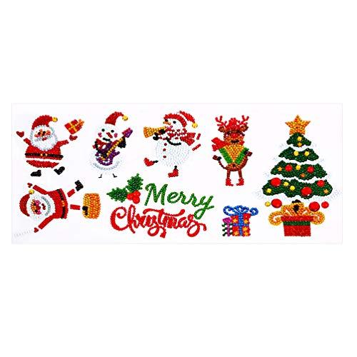 Amosfun DIY pegatinas de nevera de Navidad pegatinas de cristal pegatinas de pared pegatinas de refrigerador ornamento accesorios hechos a mano material 8pcs
