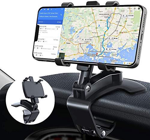 Soporte Móvil para Coche, TBONEEY Soporte de Celular para Auto 3 in 1 Espejo Retrovisor Visera Dashboard Phone Holder MultipropóSito...