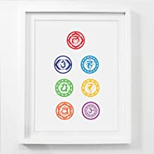 WPFZH Canvas Decorative Painting Chakras Canvas Art Prints Prints Poster Health Aum Yoga Om Symbol Poster Canvas Prints Wall Picture Home Decor-50x70cm