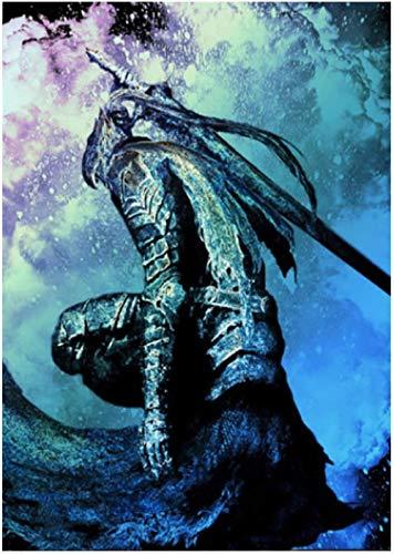 liujiu Dark Souls Artorias Posters e impresiones Lienzo Arte de la pared Pintura Imágenes para la sala de estar Decoración del hogar Regalo -20x28 Pulgadas Sin marco 1 Uds