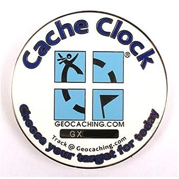 Geodox - Cache Clock Geocoin - PN Blue - RE