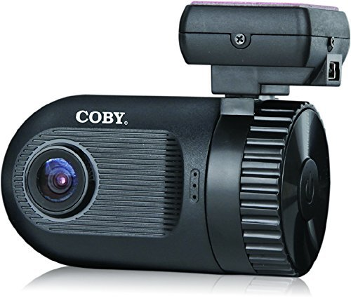 """Coby Car Dashcam Camera with All NEW """"GPS LOGGER"""" and G-Sensor File Protection, 1.5"""" HD Screen LCD - Featuring WDR 135 Degree Wide Angle 4x Zoom Lens and 5.0 Megapixel Camera"""