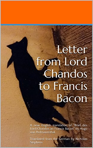 Letter from Lord Chandos to Francis Bacon