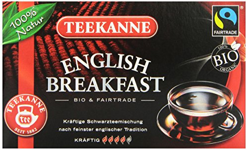 Teekanne Bio-Fairtrade English Breakfast 20 Beutel, 10er Pack (10 x 35 g)