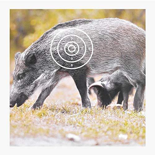 LSB-Hunting, 10pcs Animal Tir à l'arc Cible Papier 440x400mm Sanglier Modèle Motif Fléchettes Cible Papier Chasse Concurrent Cible Spécial