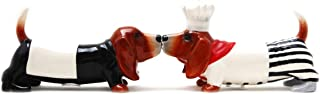 Pacific Trading Kissing Basset Hounds Chef Dogs Magnetic Salt and Pepper Shakers Set