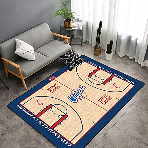 Alfombra De Cancha De Baloncesto Alfombras Impresas Digitales En 3D para Sala De Estar, Alfombra De Piso De Juego para Dormitorio De Niños 200 * 300Cm