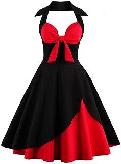 Vintage Dress Polka Dots Homecoming Dress Women1950s Retro Cocktail Dress