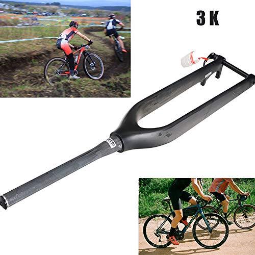 YSHUAI Ultra-léger 29 Pouces 3K Fourche en Fibre De Carbone Fourche à Suspension Vélo VTT Route VTT Fourche Dure Pièces De Vélo 1-1/8\