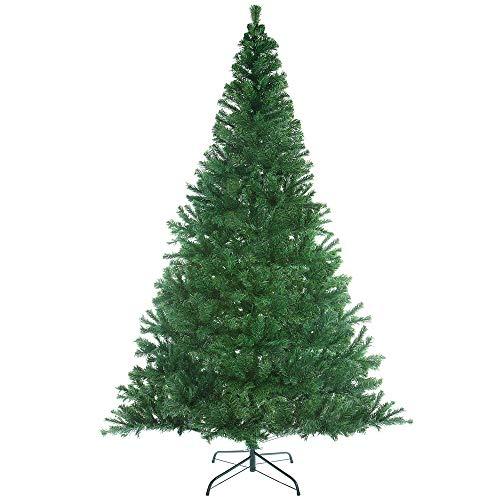 Casaria Albero di Natale 240cm 1057 Rami PVC Supporto in Metallo Abete Artificiale Decorazione Natalizia Verde