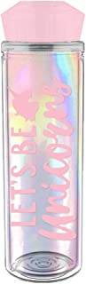 Slant 20oz Acrylic Water Bottle with Faceted Lid - Let's Be Unicorns