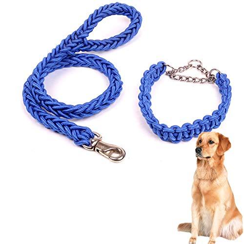 Hondenriem Training Lead Voor Honden Slip Lead Voor Honden Hond Lead Comfortabel Lange Hond Lood Handsfree Hond Lood Halsband Met Leiband blue,m