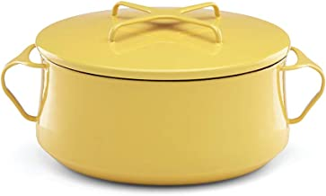 DANSK Yellow Kobenstyle 4 Qt. Casserole, 6.3 LB