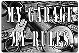 Rogue River Tactical Funny Mechanic Shop Metal Tin Sign Wall Decor Man Cave Bar My Garage My Rules