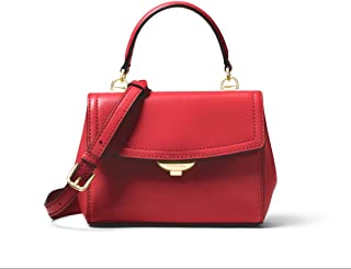 bf577e4145a4 MICHAEL Michael Kors Ava Extra-Small Leather Crossbody in Bright Red