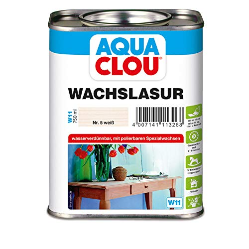 Wachslasur W11 weiß 0,750 L