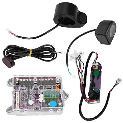 Canjerusof Scooter eléctrico Fuente de alimentación conmutada BT Controlador de la Placa Base del Modelo para la M365 monopatín Placa Base Vespa Negro