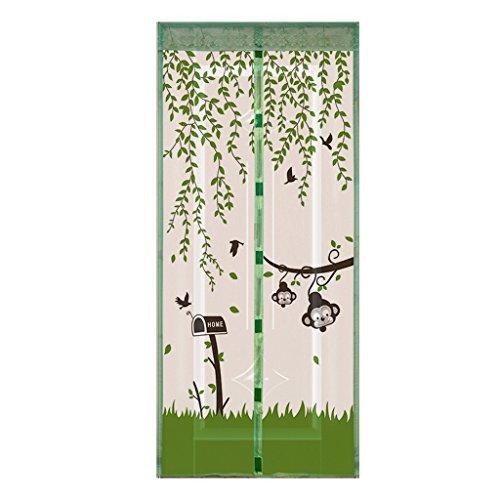 HUIJU Cinta De Cifrado Magnética Sala De Estar Dormitorio Gasa Imán Mosquito Mosquitera Puerta 90 * 220 Cm,Green,90Width*220Height