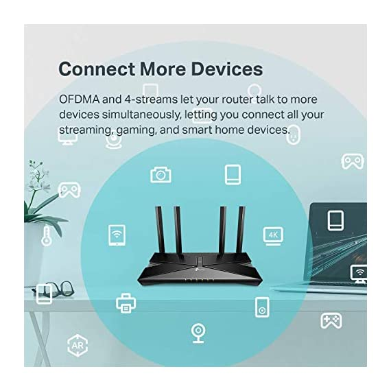 Tp-link archer ax50 ax3000 wireless dual-band gigabit router (renewed) 3 jd power award ---highest in customer satisfaction for wireless routers 2017 and 2019 wi-fi 6 router: wi-fi 6(802. 11ax) technology achieves up to 3x faster speeds, 4x capacity and 75% lower latency compared to the previous generation of wi-fi 5 while the power of intel's dual-core cpu ensures your experience is smooth and buffer-free next-gen 3 gaps speeds: 4-stream dual band router reaches incredible speeds up to 3 gaps (2402 mbps on 5 ghz band and 574 mbps on 2. 4 ghz band) for faster streaming and gaming like you have never experienced before.