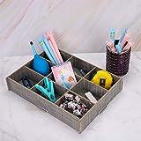 Caja de almacenaje con 9 rejillas separadas cajón, de madera, gran capacidad, caja de almacenamiento de joyas, maquillaje, cesta organizadora para calcetines, corbatas y ropa interior