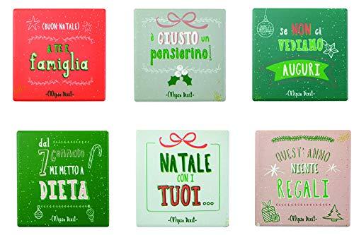 Villa d'Este Home Tivoli 5906697 Set 6 Sottobicchieri Vipse Dixit 6 Ass, Porcellana