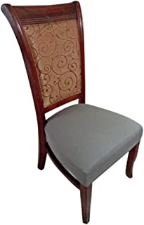 Deisy Dee Dining Chair Cover Protector Removable Washable for Hotel Dining Room Ceremony Chair Slipcovers C101 (Grey)