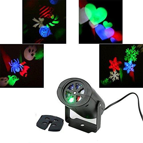 Rotazione Luci di Proiezione LED RGB Lampada di Umore per la Cerimonia Nuziale di Festa di Compleanno, Partito, Ognissanti Decorazione Domestica